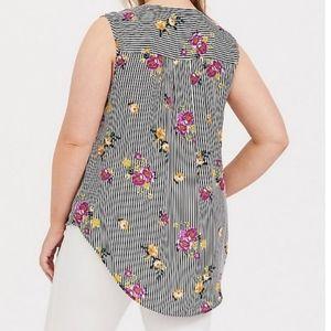 Torrid sleeveless Harper blouse